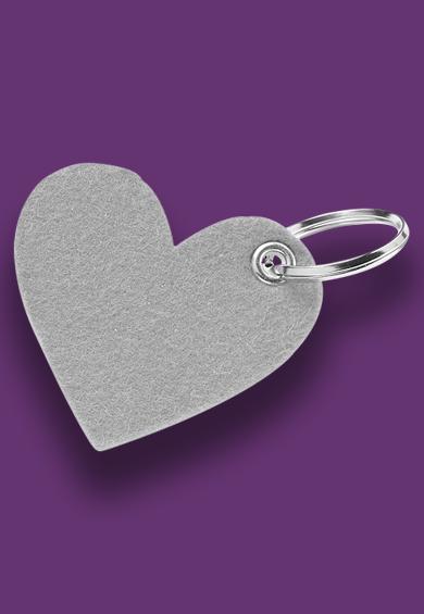 Herz aus Filzmaterial Werbeartikel-Material