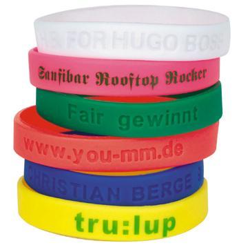 Armbänder mit Werbeaufdruck