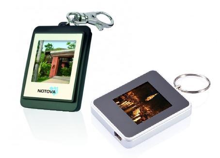 Digitale Bilderrahmen mit Werbeaufdruck