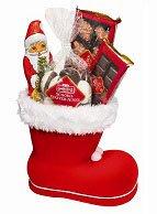Nikolausstiefel gefüllt mit Werbesüßigkeiten