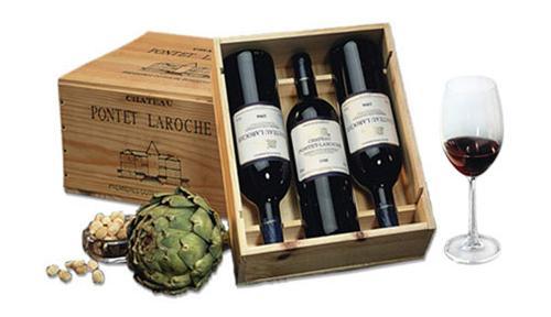günstiger Wein mit Werbeaufdruck