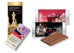 Werbeschokolade mit Aufdruck als Werbemittel