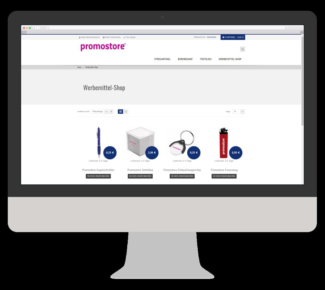 Werbemittel Full-Service Webshop