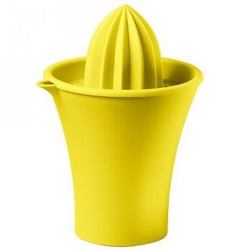 Gelbe Zitronen- und Saftpresse