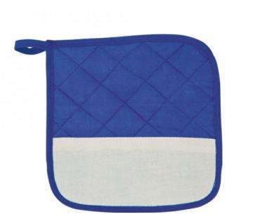 Blaue-Weißer Topflappen