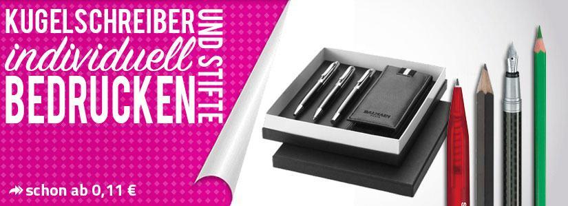 Kugelschreiber und Stifte mit Logo bedrucken