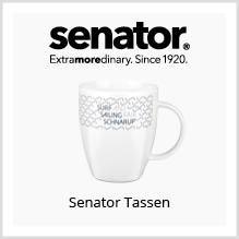 Senator-Tassen als Werbeartikel