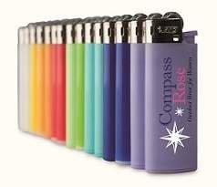 moderne Feuerzeuge in vielen Farben