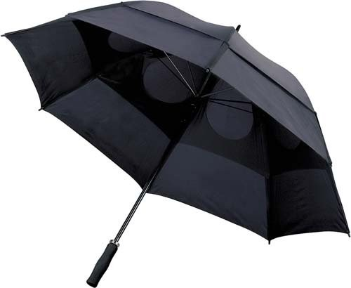 Portierschirm mit Sturmsicherung