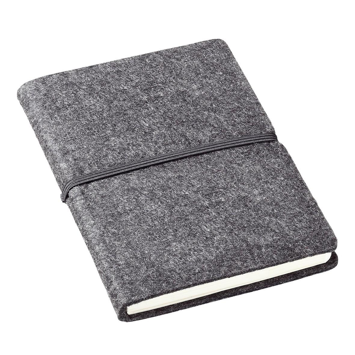 Notizbuch Filz, grau