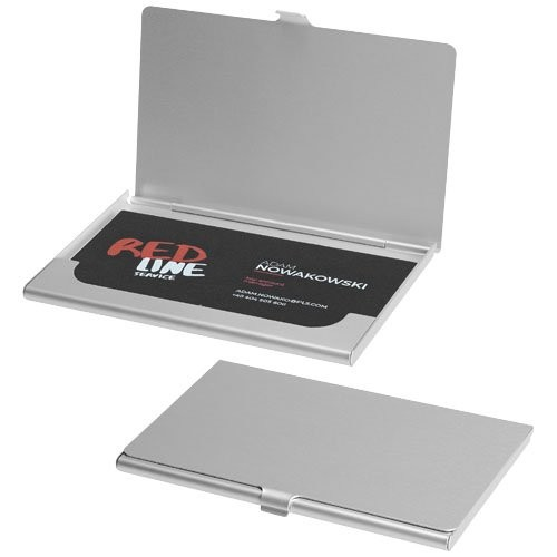 5 x Visitenkartenetui Silber-Farben Aluminium Metall Visitenkartenbox Kartenbox