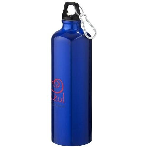 Aluminium Trinkflasche mit Karabinerhaken 800ml Farbe weiß Sportflasche