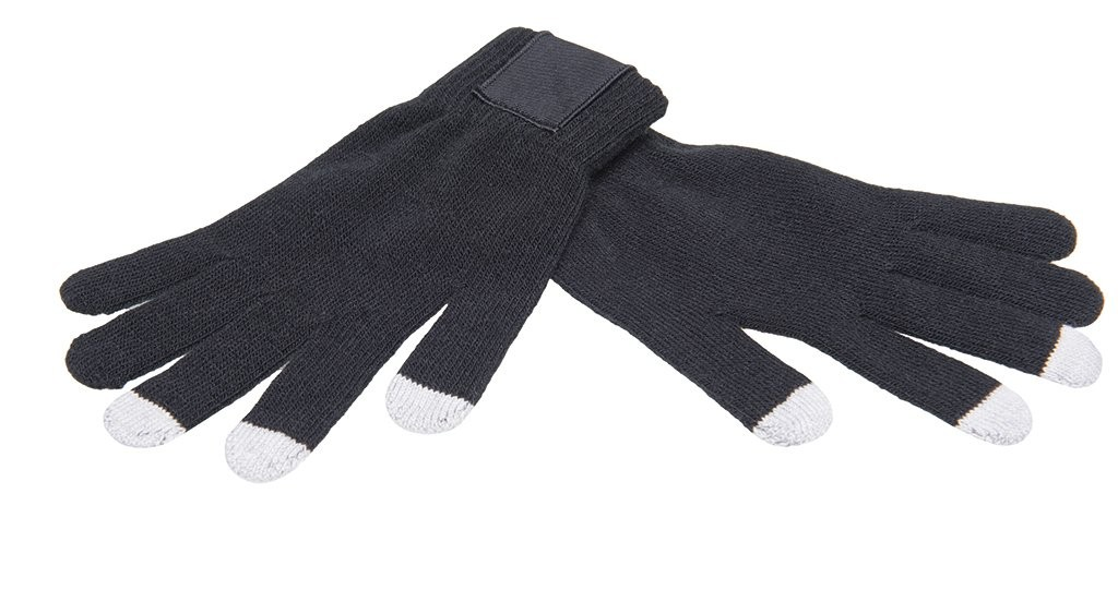 Touchscreen gloves with label