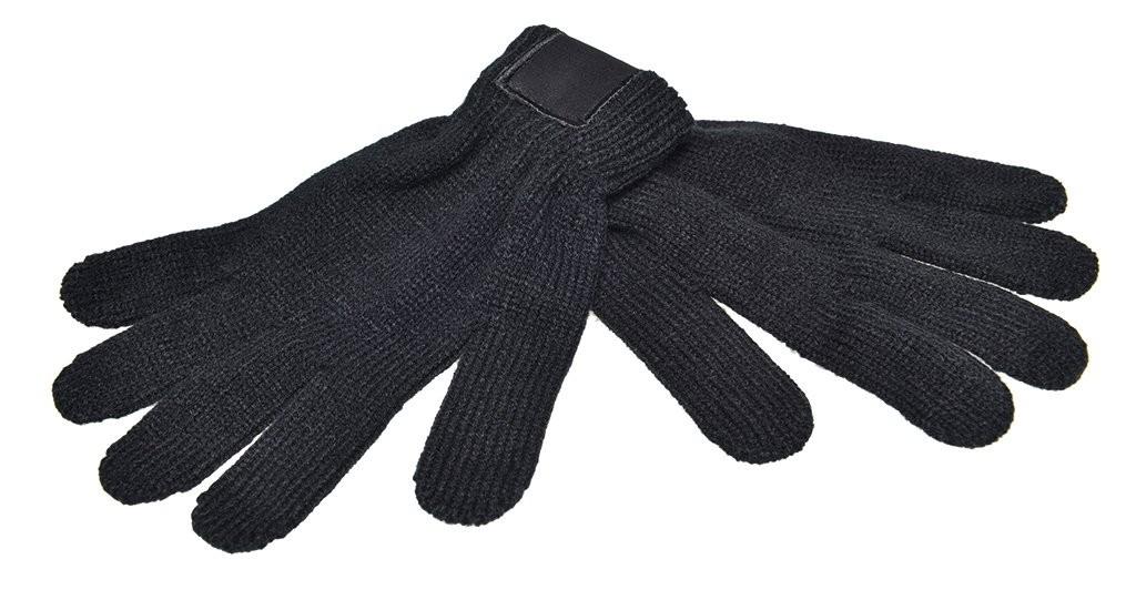 Strickhandschuhe Retrolook mit Label