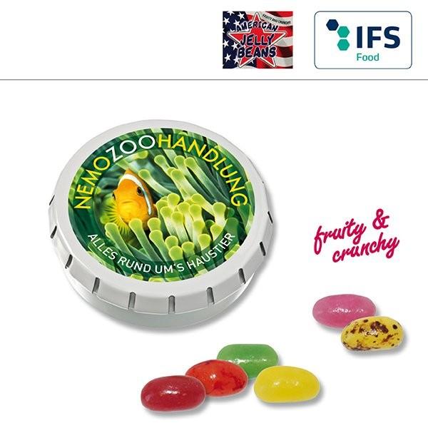 SUPER-MINI-Drück-mich-Dose mit American Jelly Beans