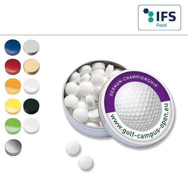 XS-Taschendose mit Pfefferminzpastillen