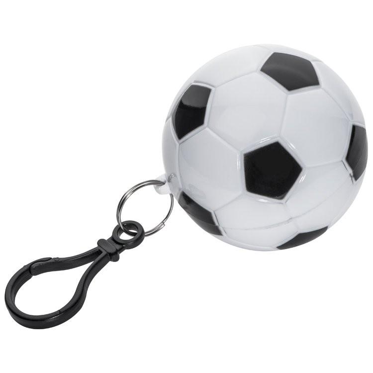 Regenponcho in einem Kunststofffußball, Ansicht 2