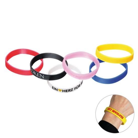 bedruckte silikon armbänder