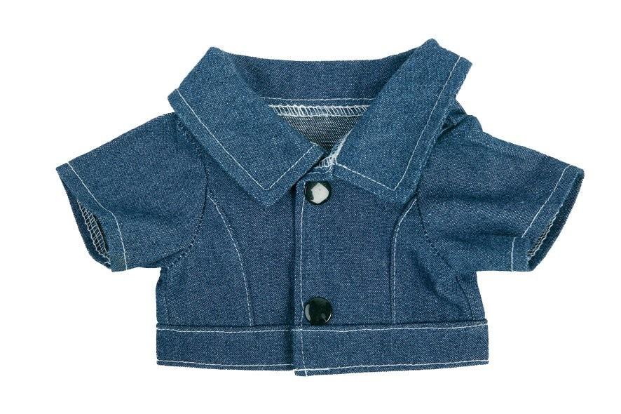 Jeans-Jacke für Plüschtiere Gr. M