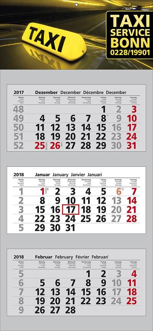 "Mehrblock-Wandkalender ""Clever 3"""