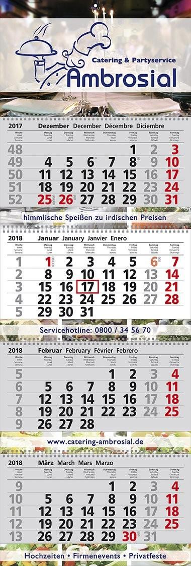 "Mehrblock-Wandkalender ""Exclusiv 4"""