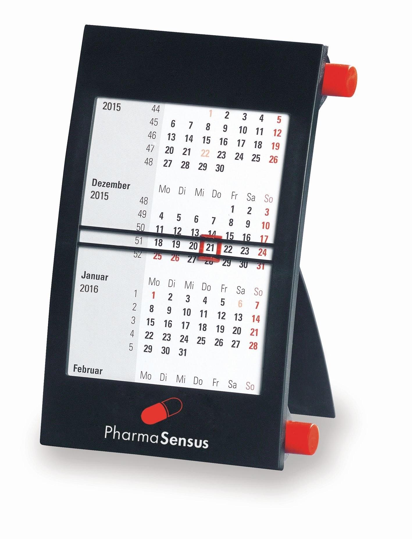Kunststoff-Tischkalender '1-sprachig'