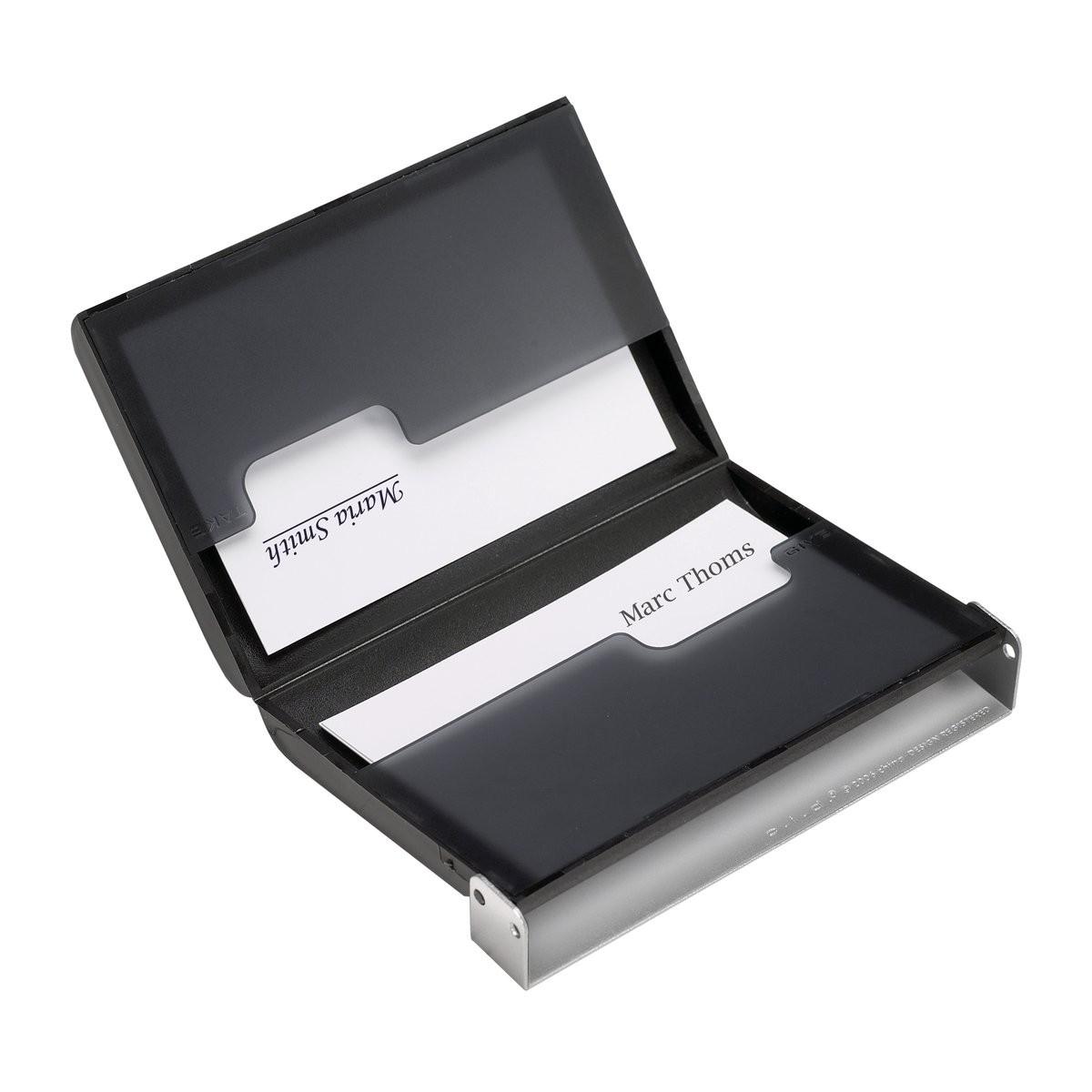 Visitenkartenbox Reflects Resende Silver Bedruckt Als