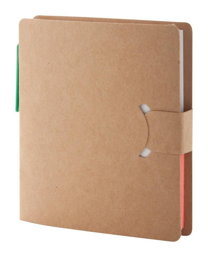 Notizheft aus Recycling Papier. ''Econote'', Ansicht 3