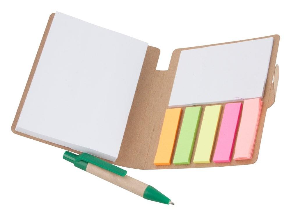 Notizheft aus Recycling Papier. ''Econote'', Ansicht 2