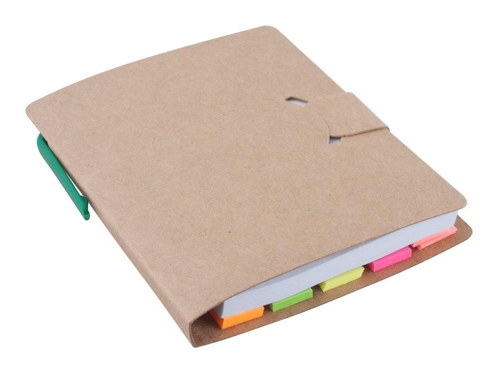 Notizheft aus Recycling Papier. ''Econote'', Ansicht 4
