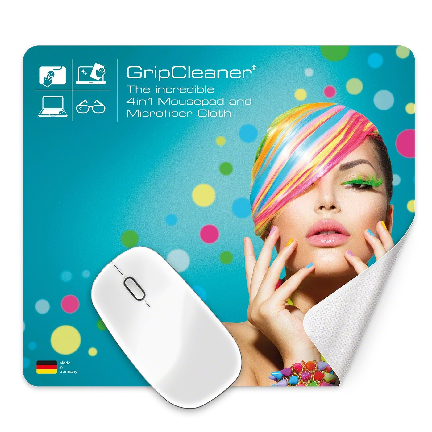 GripCleaner® 4in1 Mousepad 23x20cm, Ansicht 4