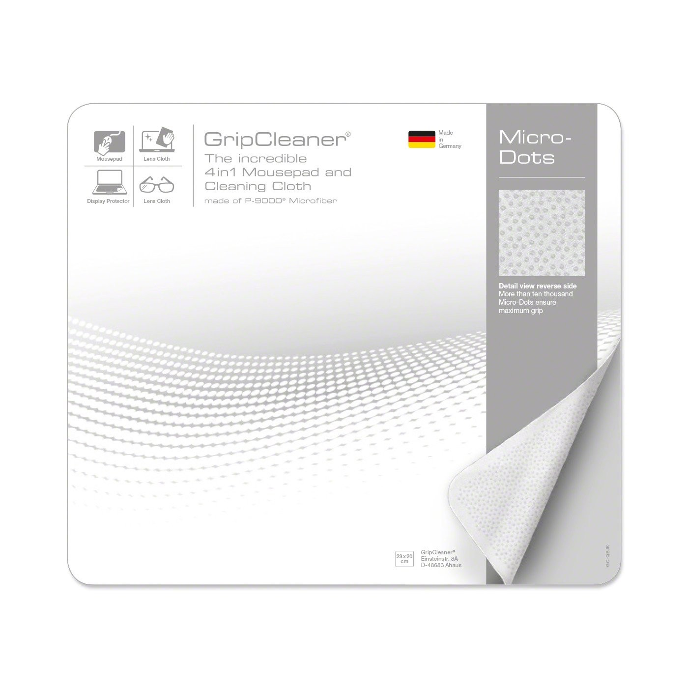 GripCleaner® 4in1 Mousepad 23x20cm, Ansicht 5