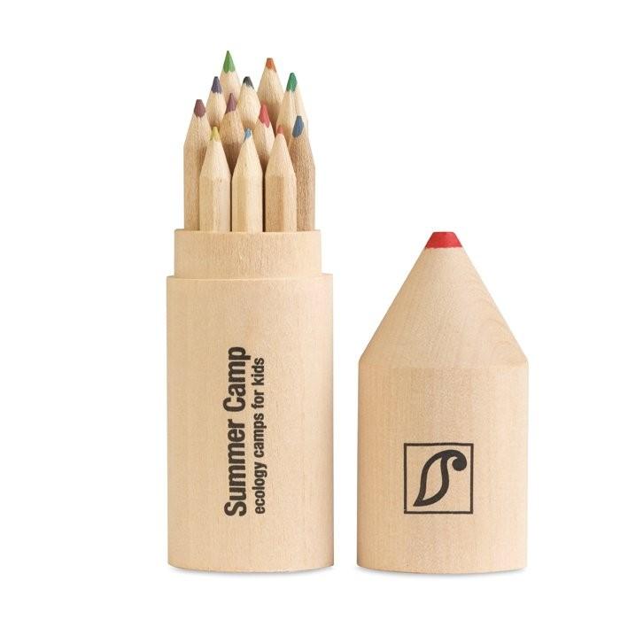 Holzbox mit 12 Stiften COLORET, Ansicht 5