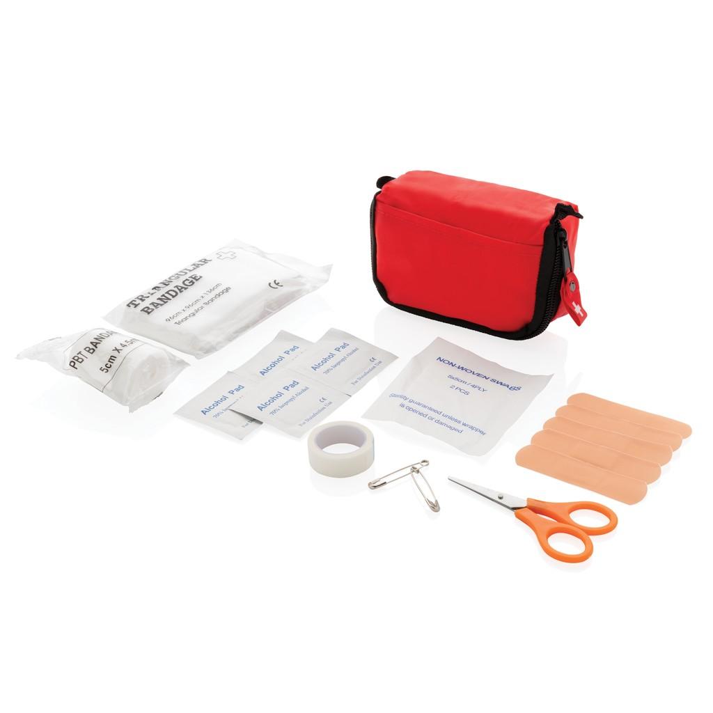 Erste Hilfe Set in roter Tasche