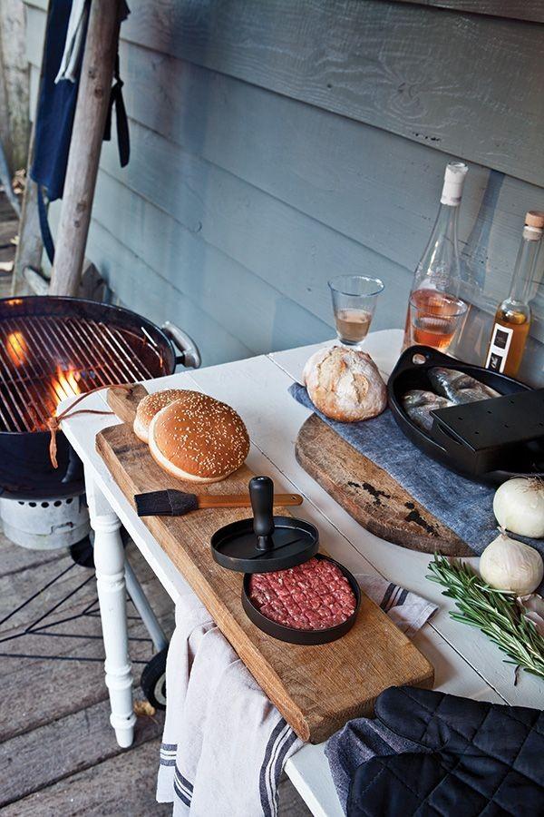 Grillset mit Hamburgerpresse und Marinadenpinsel, Ansicht 9