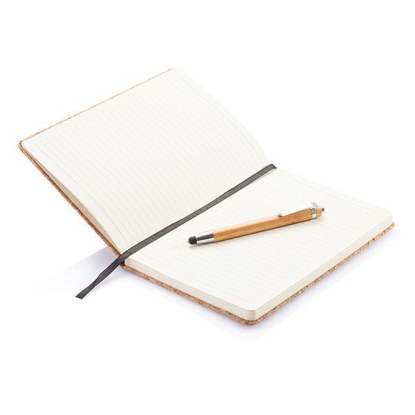 Kork A5 Notizbuch mit Bambus Stift und Stylus, Ansicht 10