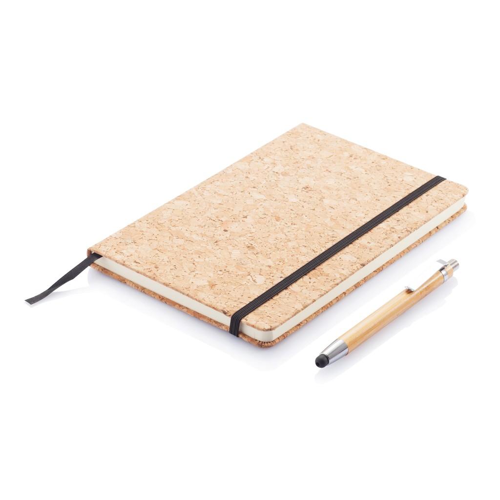 Kork A5 Notizbuch mit Bambus Stift und Stylus, Ansicht 5