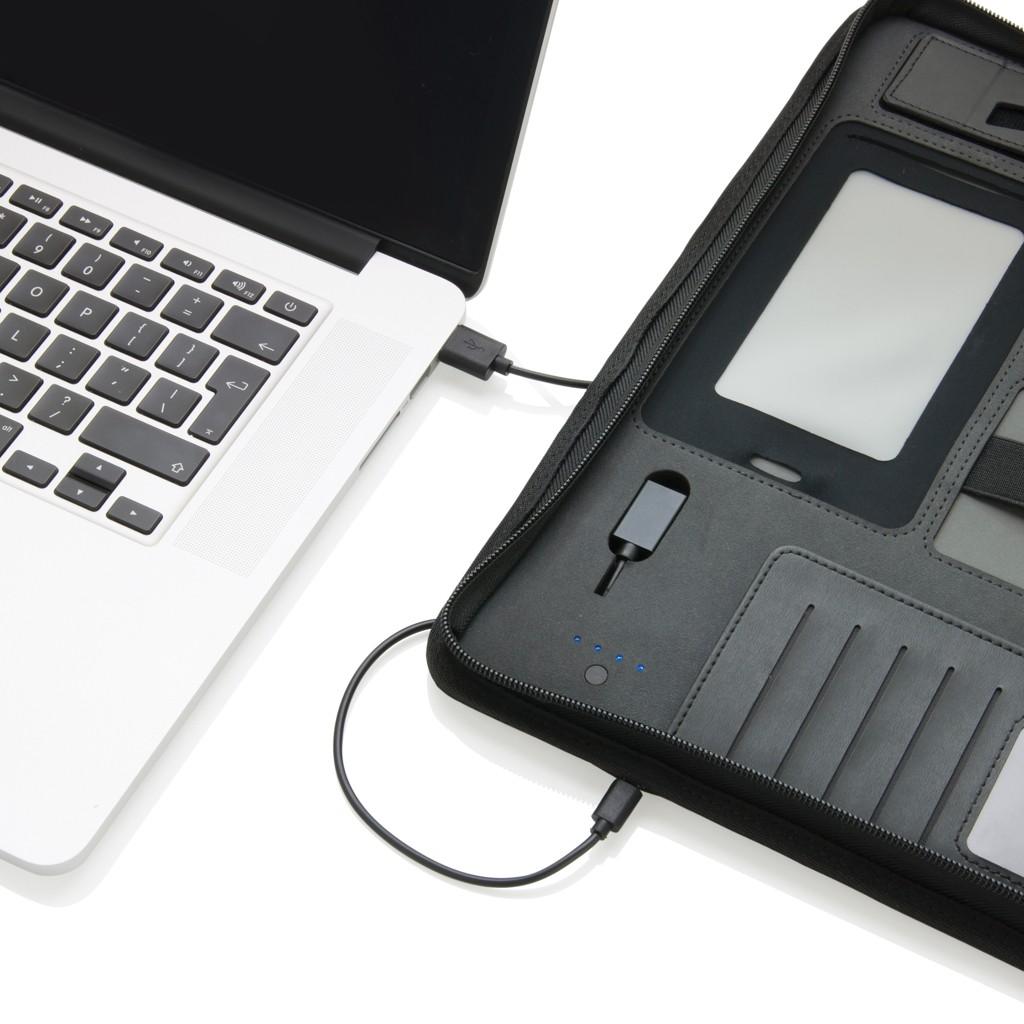 Tech Portfolio mit Powerbank 4000 mAh, Ansicht 6