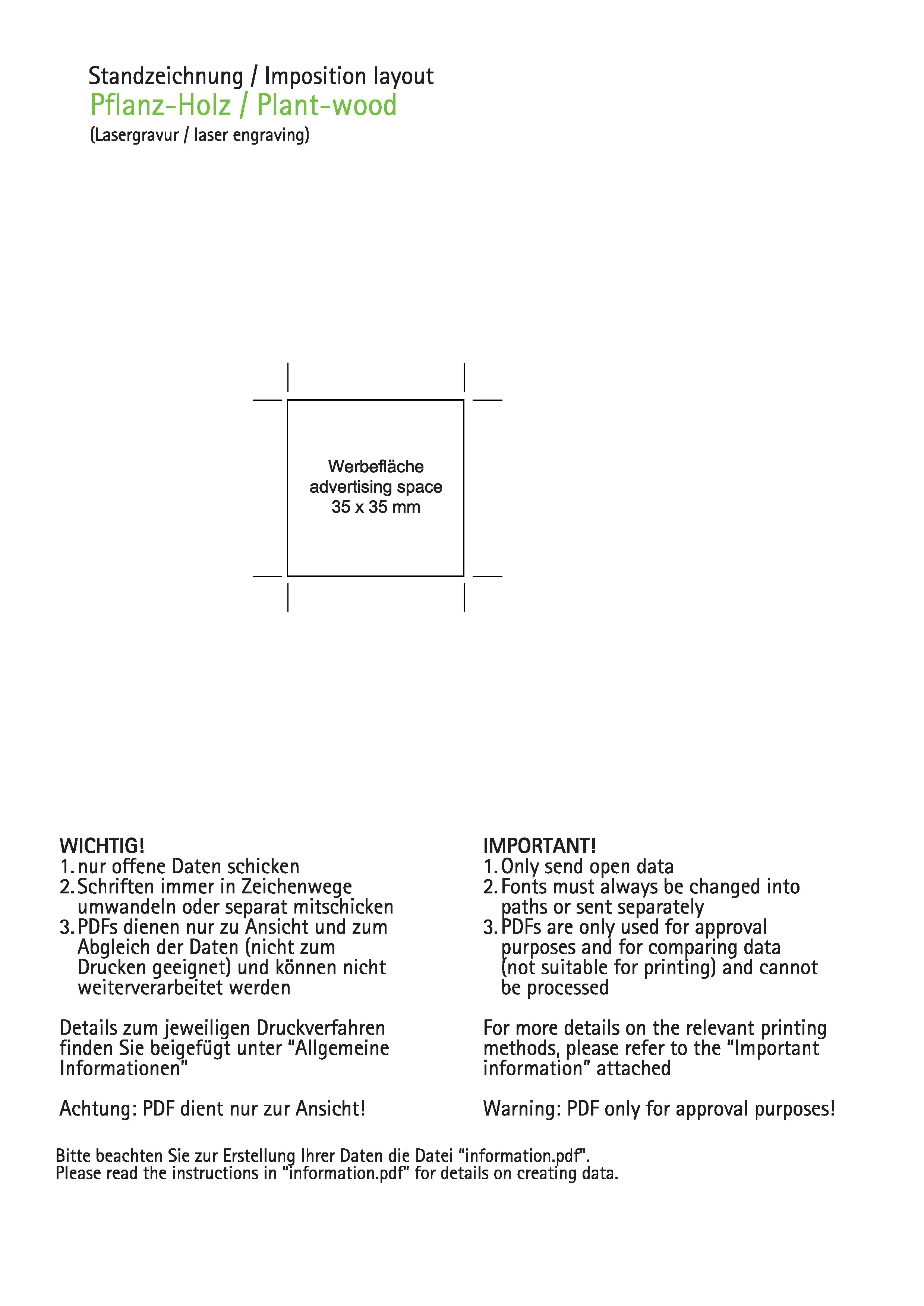 Pflanz-Holz Weihnachten inkl Lasergravur auf zwei bedruckt als ...