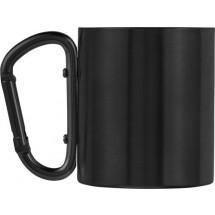 Doppelwandiger Kaffeebecher 'Carbine' aus Edelstahl (200 ml) - Schwarz