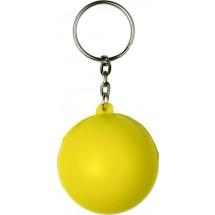 Schlüsselanhänger 'Smiley' - Gelb