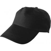 Baseballcap 100% Baumwolle, 5 Panel - Schwarz
