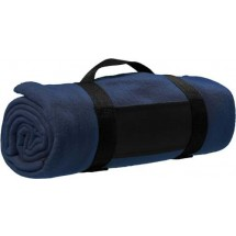 Fleece-Picknickdecke 'Central' - Blau