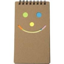 Notizbuch 'Happy face' - Braun