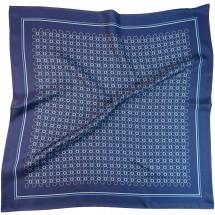 Nickituch, Reine Seide, Twill, bedruckt, ca. 53x53 cm - blau