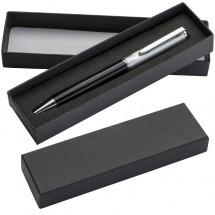 Kugelschreiber mit silbernem Oberteil - schwarz