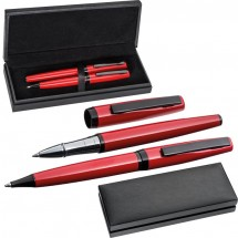 Schreibset rot-schwarz - rot