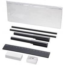 Mindy 8-teiliges Federmäppchen-Set - schwarz
