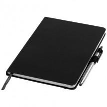 Crown A5-Notizbuch und Stylus-Kugelschreiber - schwarz