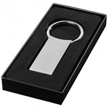 Rechteckiger Schlüsselanhänger - silber